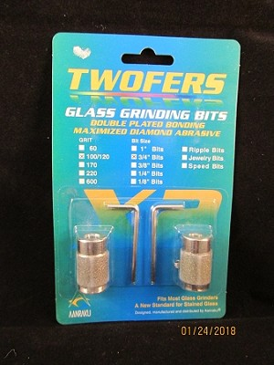 Twofers Glass Grinding Bits 3/4""