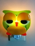 Fused Glass Owl Night Light